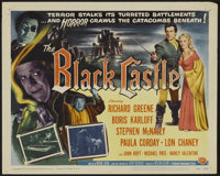 """The Black Castle (Universal International, 1952). Title Lobby Card (11"""" X 14"""") and Lobby Cards (4) (11"""" X..."""