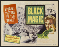 """Black Magic (United Artists, 1949). Title Lobby Card (11"""" X 14"""") and Lobby Cards (3) (11"""" X 14""""). Dr..."""