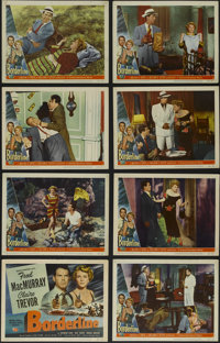 """Borderline (Universal International, 1950). Lobby Card Set of 8 (11"""" X 14""""). Crime. Directed by William Seiter..."""