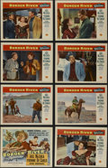 """Movie Posters:Western, Border River (Universal International, 1954). Lobby Card Set of 8 (11"""" X 14""""). Western. Directed by George Sherman. Starring... (Total: 8 Items)"""