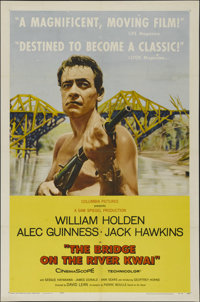 """The Bridge On The River Kwai (Columbia, 1958). One Sheet (27"""" X 41"""") Style B. War Adventure. Directed by David..."""