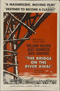 """The Bridge On The River Kwai (Columbia, 1958). One Sheet (27"""" X 41"""") Style A. War Adventure. Directed by David..."""