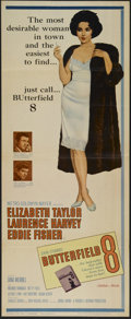 """Movie Posters:Drama, Butterfield 8 (MGM, 1960). Insert (14"""" X 36""""). Drama. Directed by Daniel Mann. Starring Elizabeth Taylor, Laurence Harvey, E..."""
