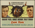 "Movie Posters:Crime, Cape Fear (Universal, 1962). Half Sheet (22"" X 28""). CrimeThriller. Directed by J. Lee Thompson. Starring Gregory Peck,Rob..."