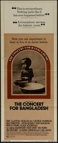 "Movie Posters:Documentary, Concert for Bangladesh (20th Century Fox, 1972). Insert (14"" X 36""). Concert Film. Directed by Saul Swimmer. Starring George..."