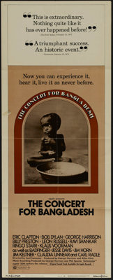 """Concert for Bangladesh (20th Century Fox, 1972). Insert (14"""" X 36""""). Concert Film. Directed by Saul Swimmer. S..."""