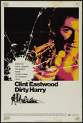 """Movie Posters:Action, Dirty Harry (Warner Brothers, 1971). One Sheet (27"""" X 41""""). Action Thriller. Directed by Don Siegel. Starring Clint Eastwood..."""