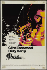 """Dirty Harry (Warner Brothers, 1971). One Sheet (27"""" X 41""""). Action Thriller. Directed by Don Siegel. Starring..."""