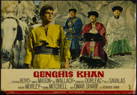 """Genghis Khan (Columbia, 1965). Photobustas (3) (18.5"""" X 26.5""""). Historical Adventure. Directed by Henry Levin..."""