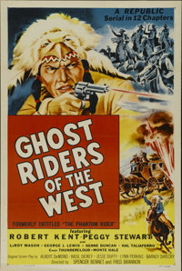 """Ghost Riders of the West (Republic, R-1954). One Sheet (27"""" X 41""""). Western Serial. Directed by Spencer Gordon..."""