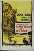 "Movie Posters:Action, Harry Black and the Tiger (20th Century Fox, 1958). One Sheet (27""X 41""). Adventure. Directed by Hugo Fregonese. Starring S..."