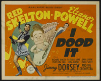 """I Dood It (MGM, 1943). Title Lobby Card (11"""" X 14"""") and Lobby Cards (2) (11"""" X 14""""). Romantic Comedy..."""