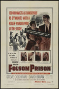"Movie Posters:Drama, Inside the Walls of Folsom Prison (Warner Brothers, 1951). One Sheet (27"" X 41""). Drama. Directed by Crane Wilbur. Starring ..."