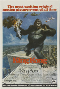 """King Kong (Paramount, 1976). One Sheet (27"""" X 41""""). Action Thriller. Directed by John Guillermin. Starring Jef..."""