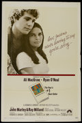 """Movie Posters:Romance, Love Story (Paramount, 1970). One Sheet (27"""" X 41""""). Romantic Drama. Directed by Arthur Hiller. Starring Ali MacGraw, Ryan O..."""