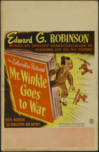 """Mr. Winkle Goes to War (Columbia, 1944). Window Card (14"""" X 22""""). Comedy. Directed by Alfred E. Green. Starrin..."""