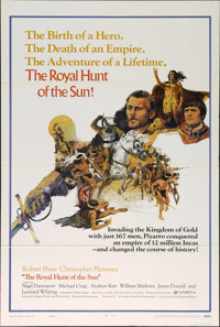 "The Royal Hunt of the Sun (National General, 1969). One Sheet (27"" X 41""). Adventure. Directed by Irving Lerne..."