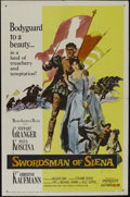 "Movie Posters:Adventure, Swordsman of Siena (MGM, 1962). One Sheet (27"" X 41""). RomanticAdventure. Directed by Baccio Bandini. Starring Stewart Gran..."