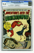 Golden Age (1938-1955):Horror, Adventures Into the Unknown #16 Mile High pedigree (ACG, 1951) CGCVF/NM 9.0 Off-white to white pages. Ogden Whitney's easil...