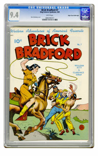 Brick Bradford #7 Mile High pedigree (Better Publications, 1949) CGC NM 9.4 White pages. Golden Age Western titles are a...