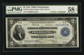 Fr. 756 $2 1918 Federal Reserve Bank Note Double Courtesy Autographed PMG Choice About Unc 58 EPQ