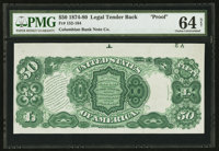 Fr. 152-164 $50 1874-80 Legal Tender Back Proof PMG Choice Uncirculated 64 Net