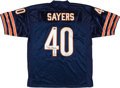 Football Collectibles:Uniforms, Gayle Sayers Signed Chicago Bears Jersey With HOF Inscription....