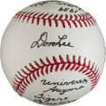 Autographs:Baseballs, Don Lee Single Signed Baseball With Lengthy Ted WilliamsInscription....