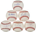 Autographs:Baseballs, Texas Rangers Legends Single Signed Baseballs Lot Of 6...