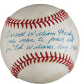 "Autographs:Baseballs, Carroll William Hardy ""Ted Williams"" Inscription Ball. ..."