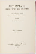 Books:Biography & Memoir, [Reference] Allen Johnson. Dictionary of American Biography.New York: Scribner's, 1928-1944, 1974. Twenty-three qua... (Total:23 Items)
