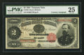Large Size:Treasury Notes, Fr. 358 $2 1891 Treasury Note Courtesy Autograph PMG Very Fine 25.. ...