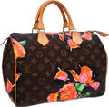 Luxury Accessories:Bags, Louis Vuitton Limited Edition Monogram Roses by Stephen SprouseSpeedy 30 Bag. ...