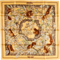 "Luxury Accessories:Accessories, Hermes Yellow & Green ""Casse Noisette"" by Antoine de JacquelotSilk Scarf. ..."