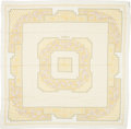 "Luxury Accessories:Accessories, Hermes Cream, Sage & Yellow ""Srinagar,"" Cashmere Scarf. ..."