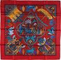 "Luxury Accessories:Accessories, Hermes Red, Blue & Yellow ""Persepolis,"" by Sophie Koechlin Silk Scarf. ..."