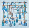 "Luxury Accessories:Accessories, Hermes Light Blue & Turquoise ""Passementerie,"" by FrancoiseHeron Silk Scarf. ..."