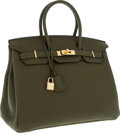 Luxury Accessories:Bags, Hermes 35cm Vert Veronese Togo Leather Birkin Bag with Gold Hardware. ...