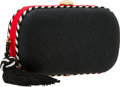 Luxury Accessories:Bags, Bottega Veneta Black & Red Woven Minaudiere Clutch Bag withTassel. ...