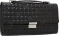 Luxury Accessories:Bags, Chanel Black Patent Leather CC Monogram Clutch with Handle. ...