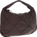 Luxury Accessories:Bags, Bottega Veneta Medium Chocolate Nappa Leather Hobo with BraidedDetails. ...
