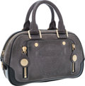 Luxury Accessories:Bags, Louis Vuitton Limited Edition Gray Suede & Matte AlligatorGloshof PM Bag. ...