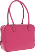 Luxury Accessories:Bags, Hermes 20cm Rose Shocking Chevre Leather Plume Bag with PalladiumHardware. ...