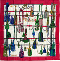 "Luxury Accessories:Accessories, Hermes Magenta, Blue & Green ""Passementerie,"" by FrancoiseHeron Silk Scarf. ..."
