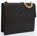 Luxury Accessories:Bags, Chanel Black Leather Shoulder Bag with Gold Chain Strap. ...