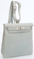Luxury Accessories:Bags, Hermes 20cm Blue Arctic Calf Box Leather Kelly Ado Backpack Bagwith Palladium Hardware. ...