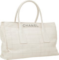 Luxury Accessories:Bags, Chanel Bone Antiqued Leather Tote Bag with Silver Hardware . ...