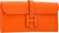 Luxury Accessories:Bags, Hermes Feu Epsom Leather Jige Elan H Clutch Bag. ...