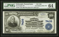 National Bank Notes:Pennsylvania, Zelienople, PA - $10 1902 Plain Back Fr. 624 The Peoples NB Ch. #7409. ...