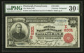 National Bank Notes:Pennsylvania, Pittsburgh, PA - $10 1902 Red Seal Fr. 613 The Mellon NB Ch. #(E)6301. ...